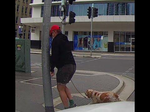 Недовольный пешеход врезался в столб