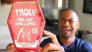 Trying The HOTTEST CHIP In The World | Paqui One Chip Challenge