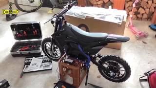 Actionbikes Motors - Kinder Mini Elektro Crossbike Gepard 500 Watt 36V ( Teil 1/2) Aufbaufazit