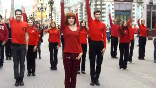 Mylene Farmer flashmob in Moscow 13.05.2012 - 2