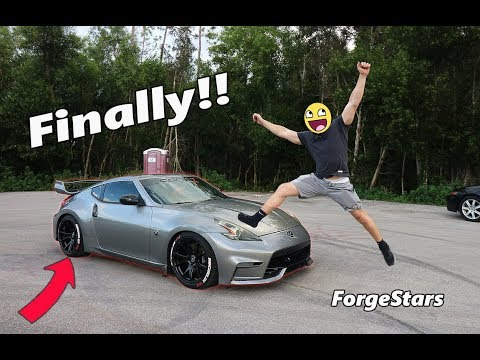 ACTUAL 370z NEW Custom WHEELS Reveal!! Brittney's New Shoes!