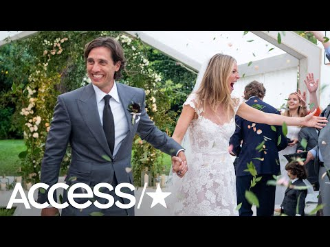 70a7d4f9ffd Gwyneth Paltrow Shares Stunning Photos From Her Wedding  See Her Gorgeous  Dress!
