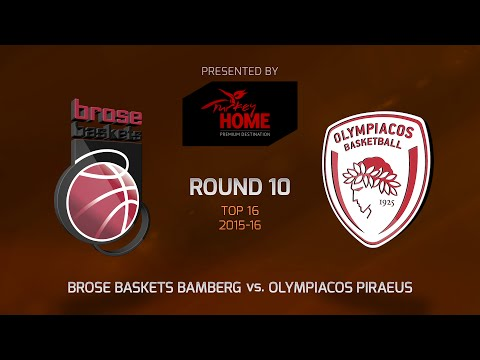Highlights: Top 16, Round 10, Brose Baskets Bamberg 72-71 Olympiacos Piraeus