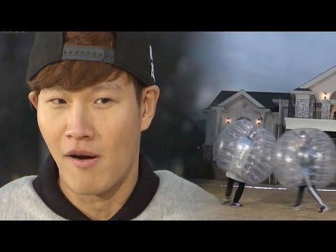 《FUNNY》 Running Man 런닝맨 김종국, 버블 씨름 1위 등극 '독기품은 능력자' EP413 20160110 (видео)