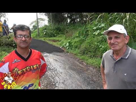 Prefeito Ayres Scorsatto e Vereador Chiquinho da Rua Travessa do Sossego na Favela do Justinos.