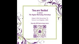 How To Create An Event QR Code For Invitation Cards