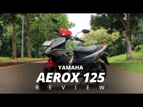 Yamaha Aerox 125LC 2016 Test Ride Review Indonesia - OtoRider (English Subtitled)
