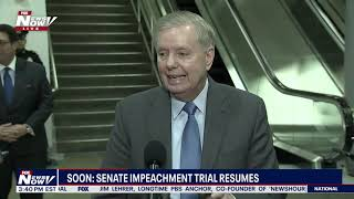 """IN THE SHOES OF THE BIDENS"": Sen. Lindsey Graham (R-SC) during impeachment trial break"