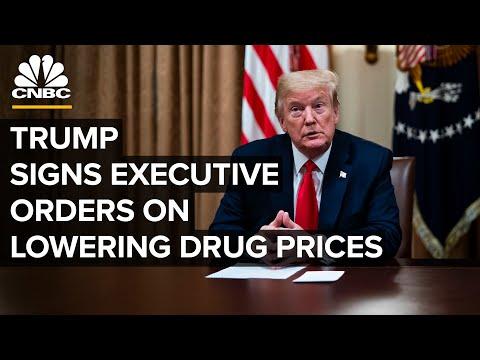 Trump ondertekend uitvoerende orders met als doel de medicijnprijzen te verlagen