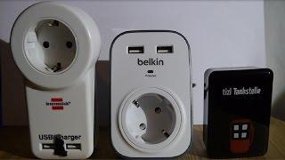Drei Gadgets: USB-Ladeadapter