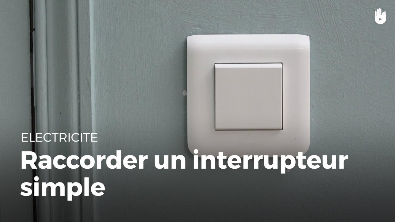 comment raccorder un interrupteur simple faire des petits travaux sur une installation. Black Bedroom Furniture Sets. Home Design Ideas
