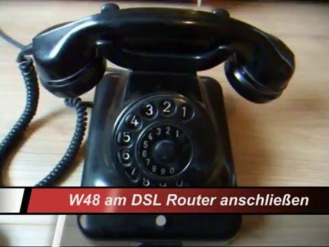 Old Telephone W 48 an Router anschließen