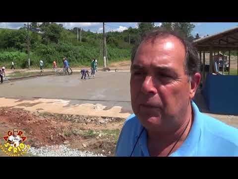 Mauro Ramos Secretário de Esportes e Turismo de Juquitiba fala sobre a grama Sintética  Quadra de Fora de Juquitiba