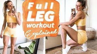 Leg + Glute Functional Workout Explained   Beginner To Advanced