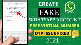 Whatsapp fake Number - Create Whatsapp account with US number 2021