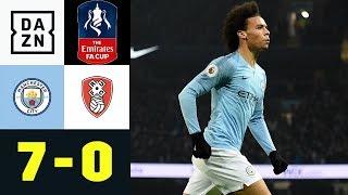 Leroy Sane Und Co. Im Torrausch: Manchester City - Rotherham United 7:0 | FA Cup | DAZN Highlights