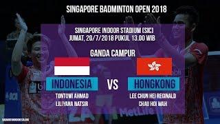 Live Streaming Badminton Ganda Campuran Tontowi-Liliyana Melawan Hongkong di Singapore Open 2018