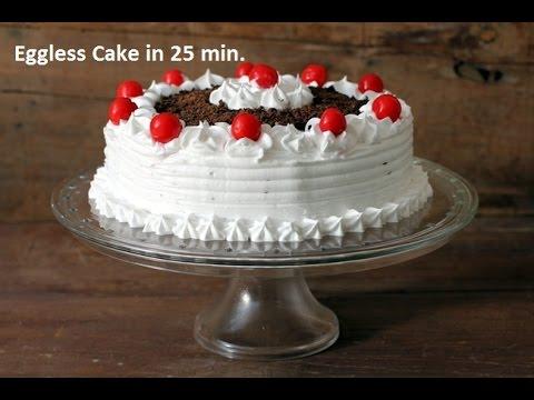 Video Eggless Cake in HINDI - Microwave Convection - अंडा रहित केक