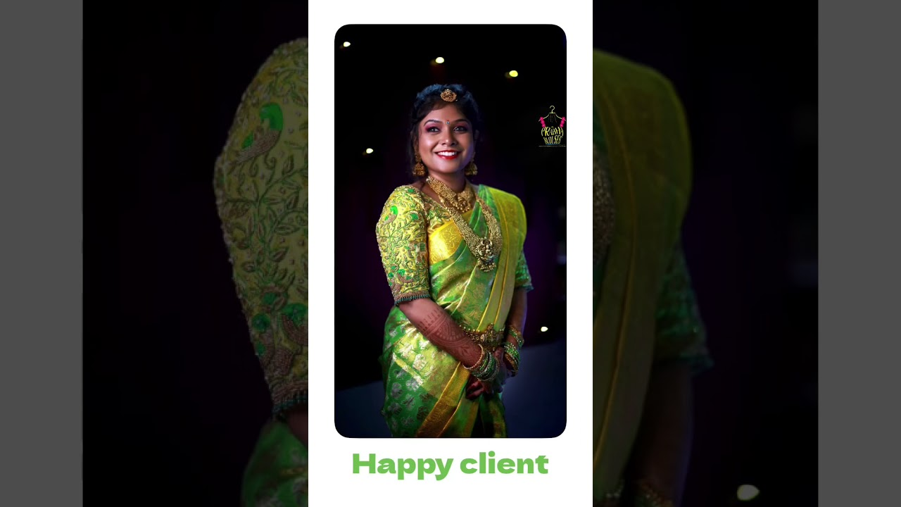 """<p style=""""color: red"""">Video : </p>Happy client from Prabha blouses / maggamwork / prabhablouses 2021-10-06"""