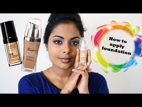 How To Apply Foundation (Tan Indian Skin/ Medium-Dark Brown skin)