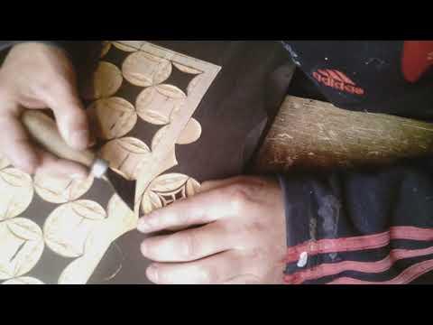 Изготовка резной шахматной доски.
