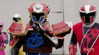 "Kekuatan Rangers Super Ninja Steel - Lion Fire Blue Ranger Vs Tynamon | Episode 18 ""Magic Misfire"""