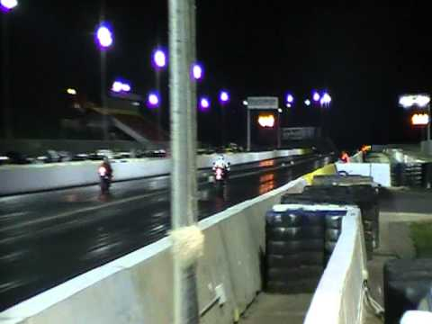 Watching other drag races. Calder