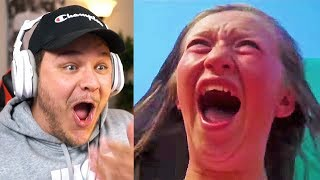 People On Roller Coasters *HILARIOUS* - Reaction