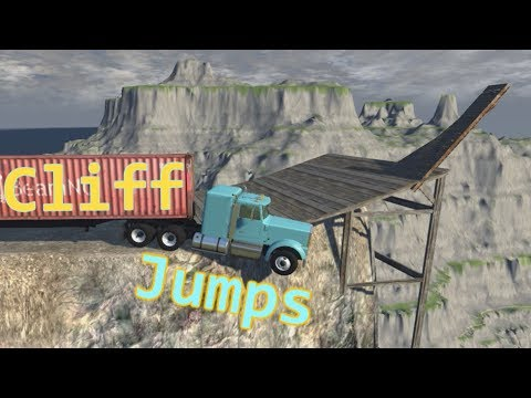 Cliff Jumps With Cars & Trucks || BeamNG.drive Crash Compilation
