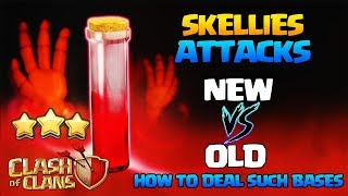 Th9 Th10 New Vs Old Skeleton Spell Attacks - How To Deal With Such Bases - Larries Clash Of Clans