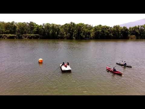 FIMI X8 SE 2020 CHASING CANOE KAYAK AT PINIOS RIVER