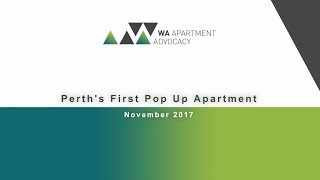 Timelapse of Perth's first pop up apartment