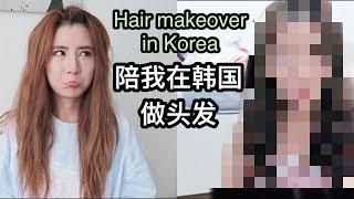 在韩国剪+染头发 只花了SGD$100+!Haircut + hair dye in Korea! - Vlog