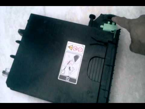 Removing waste toner for Ricoh SPC 232/242