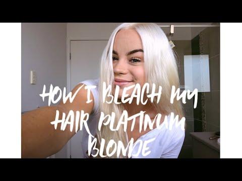 So färbe ich meine Haare Platinblond 💁🏼♀️