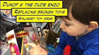 duhop Broken action figure replacement Walmart toy grab vlog
