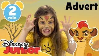 The Lion Guard | Kion Face Painting Tutorial | Disney Junior UK #AD