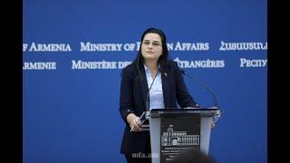 ԱԳՆ մամուլի խոսնակ Աննա Նաղդալյանի  ճեպազրույցը լրագրողների հետ. 13.12.2019