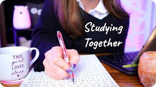 ASMR Study With Me for 1 HOUR? (Pen Writing, Inaudible, Rain) ✍️🌧️