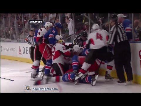 Brian Boyle vs. Matt Carkner