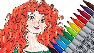 Merida Disney Princess New 2016 Coloring Page Video For Kids Cartoon Brave