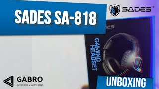 UNBOXING SADES SA-818 / REVIEW/GABRO