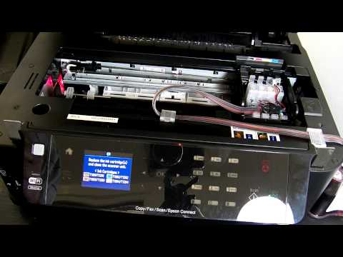 Ciss continuous ink system fits with Epson Work Force 3520 printer - WF-3520