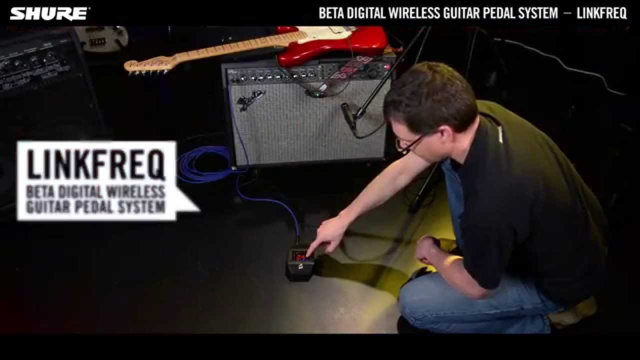 Shure Beta Digital Wireless Guitar System: LINKFREQ