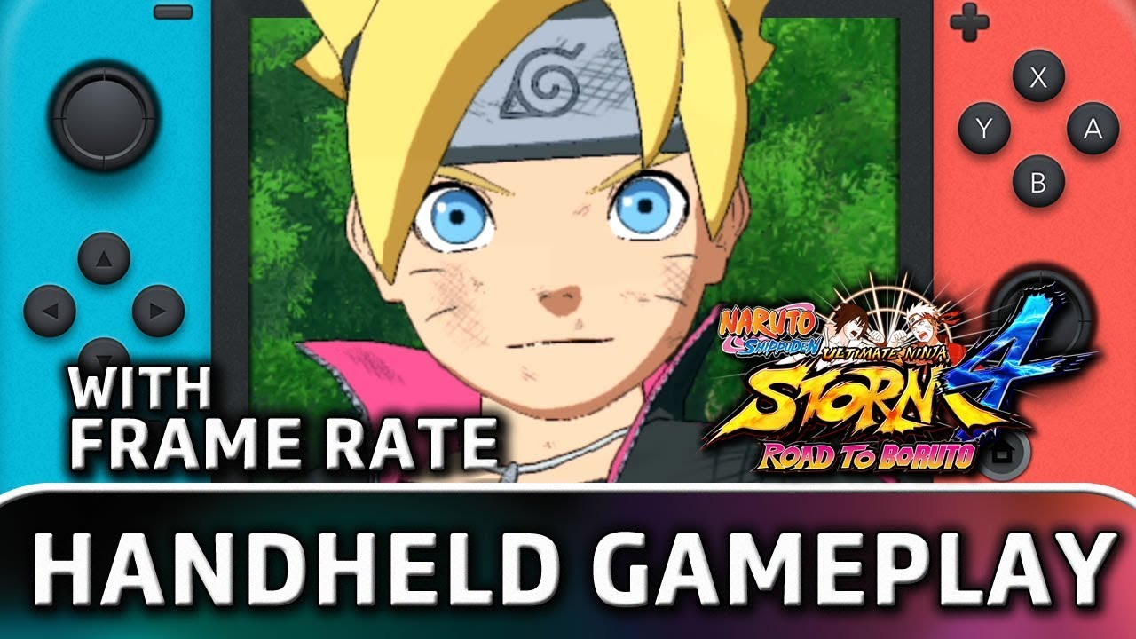 NARUTO SHIPPUDEN: Ultimate Ninja STORM 4 Road to Boruto | Nintendo Switch HANDHELD Gameplay with Frame Rate