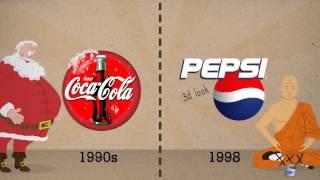 Coca-Cola vs Pepsi - Logos evolution