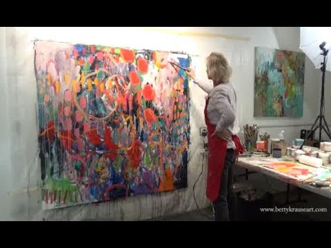 Abstract Expressionism / Intuitive Art - 60x60 canvas