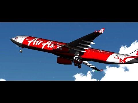 Air New Zealand 777 landing at GIBRALTAR GeoFS - смотреть