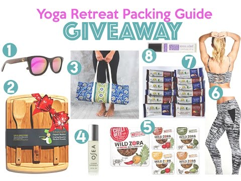 Yoga Retreat Packing Guide Giveaway