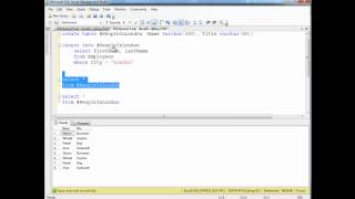 SQL Temporary Tables